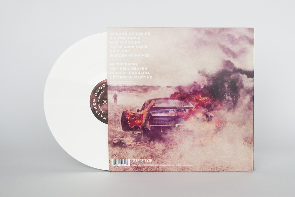 Matthew Good Arrows Of Desire Vinyl Design