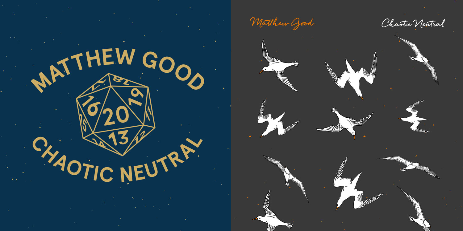 Matthew Good Chaotic Neutral t-shirt Merchandise