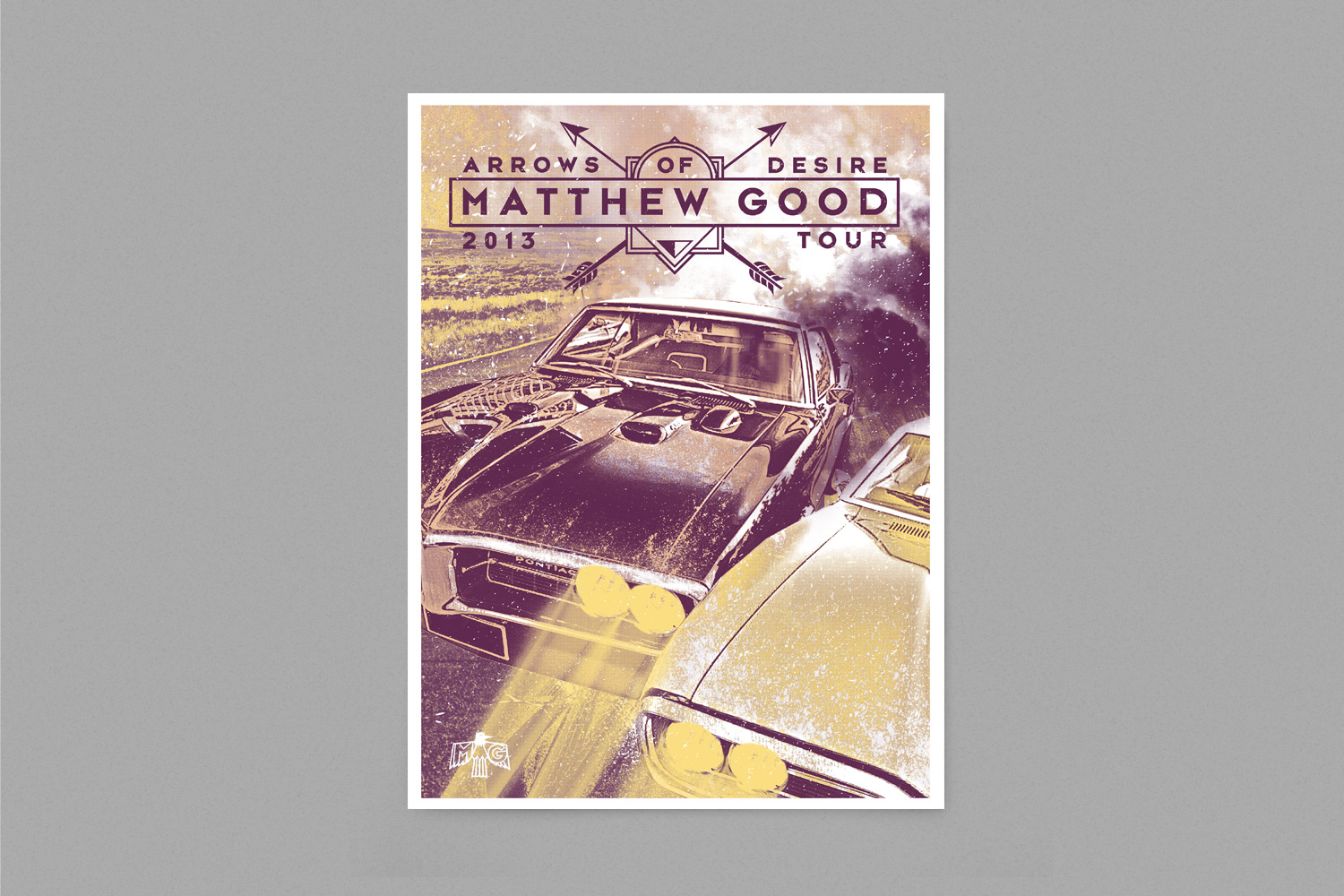 Matthew Good Arrows Of Desire Poster Design