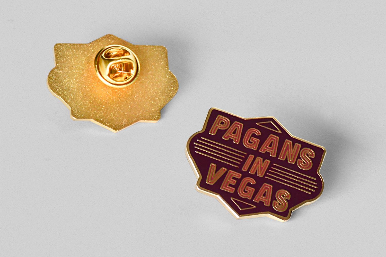 Metric Pagans in Vegas Lapel Pin Design