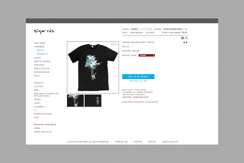 Sigur Ros Kveikur Website Store Design