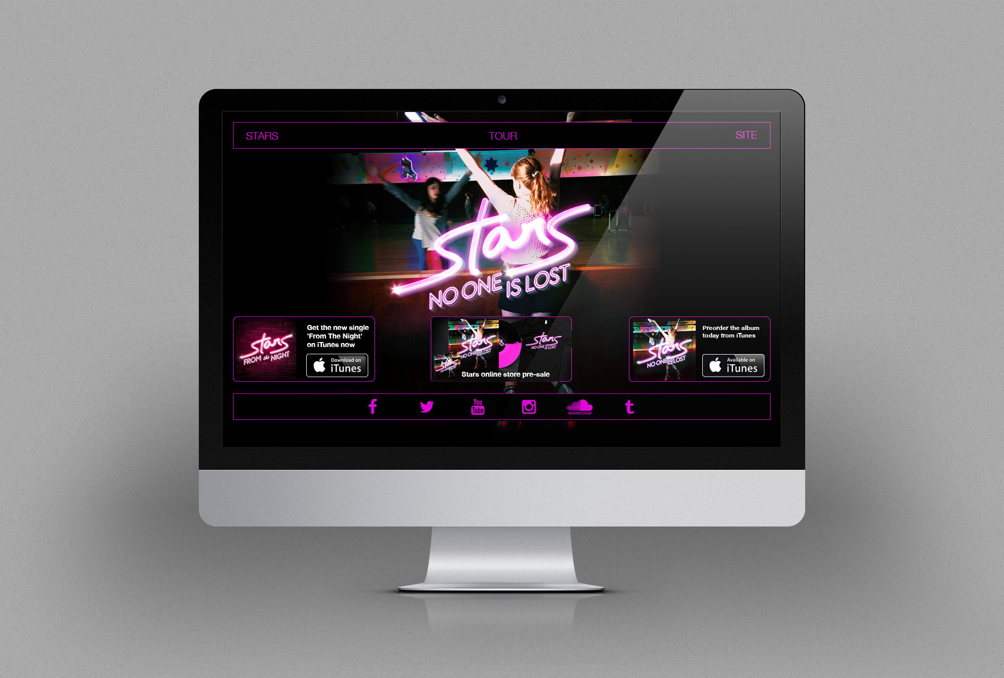 Stars No One Is Lost Website Design