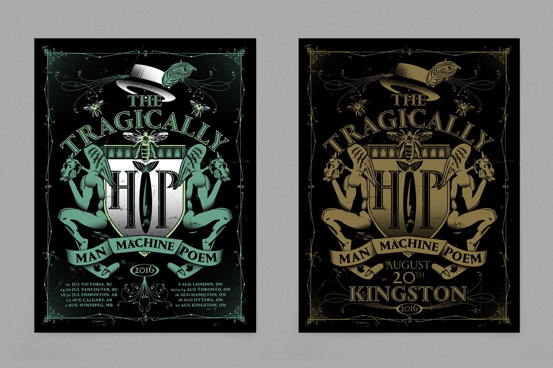 The Tragically Hip Man Machine Poem tour Kingston poster