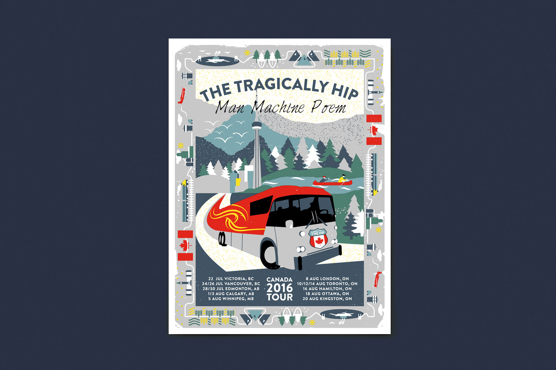 The Tragically Hip Man Machine Poem tour poster